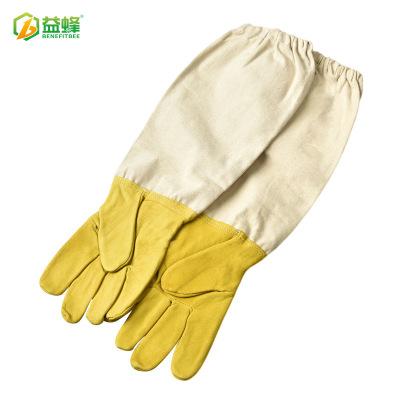 金色小猪皮养蜂手套防蜂防蜇防刺防割手套厂家直销养蜂工具蜂具