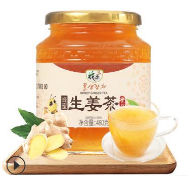 花圣蜂蜜生姜茶480g 源頭廠家定制品牌加工 一件代發 混批零售