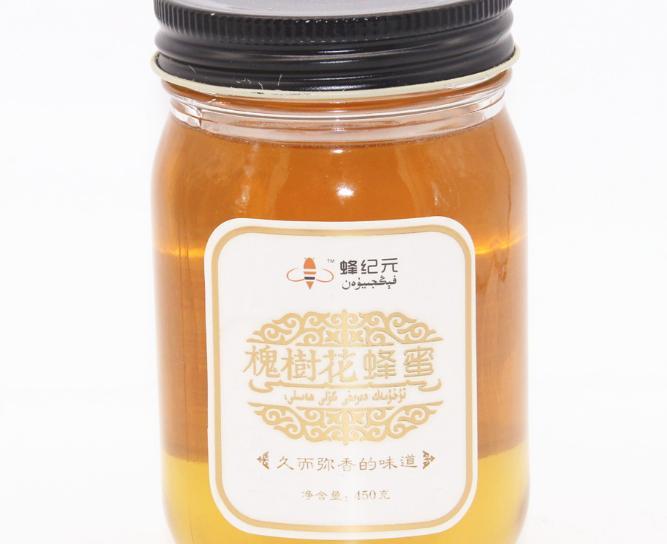 新品上市450g花蜜槐树花蜂蜜野生蜂蜜 批发兼零售槐树花蜜
