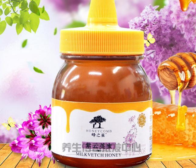 蜂之巢紫云英蜜380g 蜂蜜 尖嘴塑瓶 良心保障