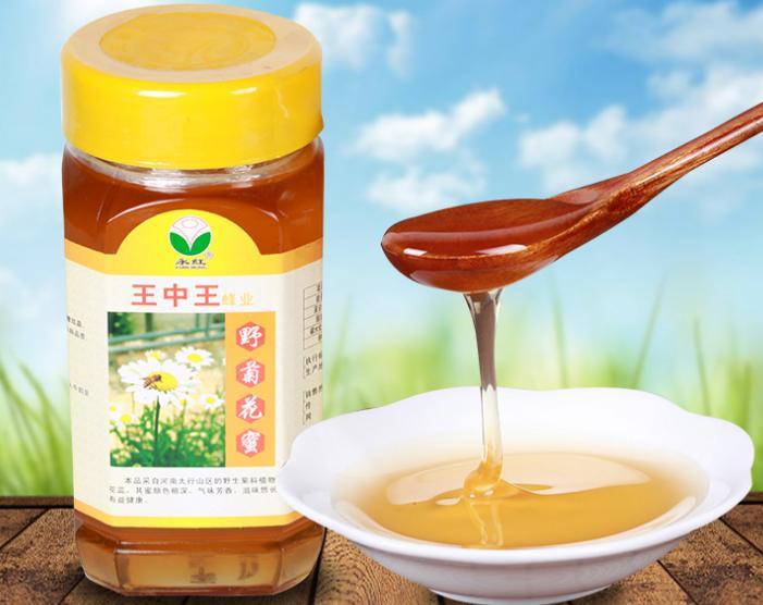 农家自产野菊花蜂蜜土蜂蜜产品冬蜜900g香味浓郁蜂蜜批发