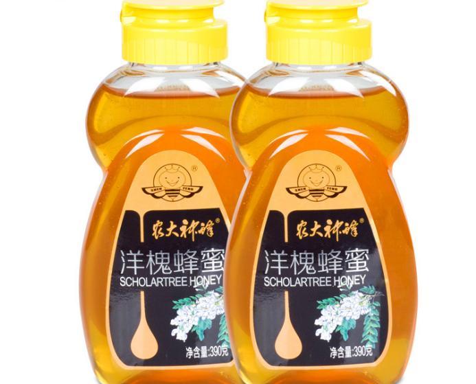 农大神蜂 蜂蜜洋槐蜜农家野生自产成熟蜜新鲜孕妇儿童蜂蜜390g*2