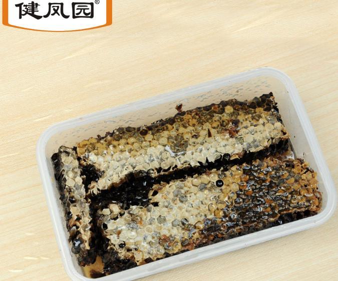健鳳園蜂場自產自然成熟封蓋老巢蜜保鮮盒裝500g現新割蜂巢蜜1斤