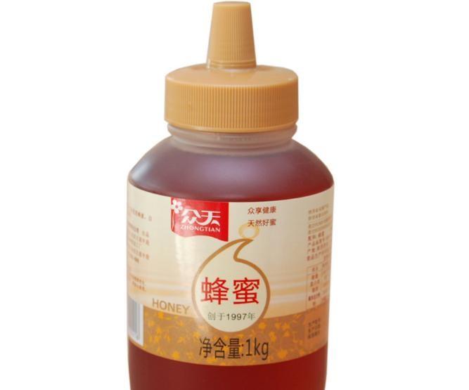 众天蜂蜜 秦岭百花蜂蜜 尖嘴瓶装1kg蜂蜜 批发贴牌加工一件代发