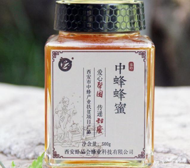 厂家直供 秦岭中蜂蜂蜜土蜂蜜 结晶蜜 500g贴牌代工 一件代发