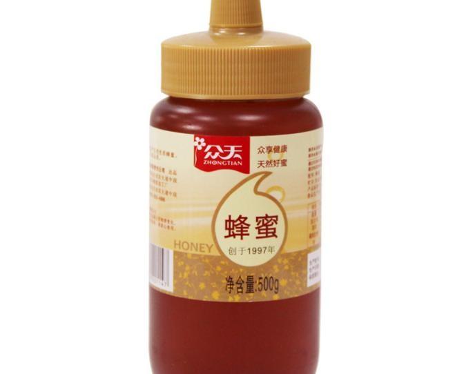 厂家直供 众天尖嘴蜂蜜 秦岭山花蜜500g 一件代发
