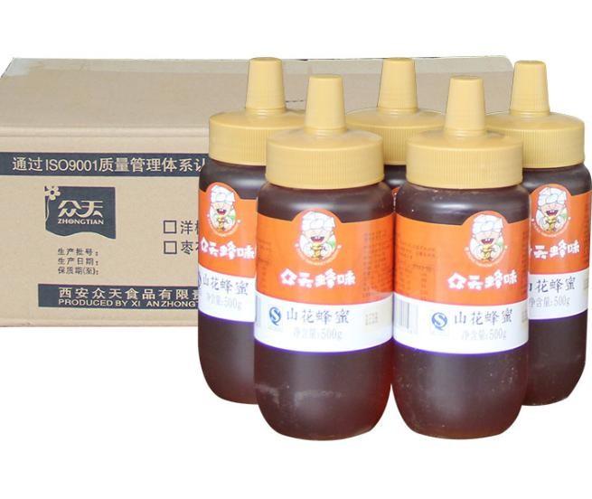 秦岭山花蜂蜜 尖嘴百花蜂蜜500gX20瓶贴牌代工厂家直供一件代发