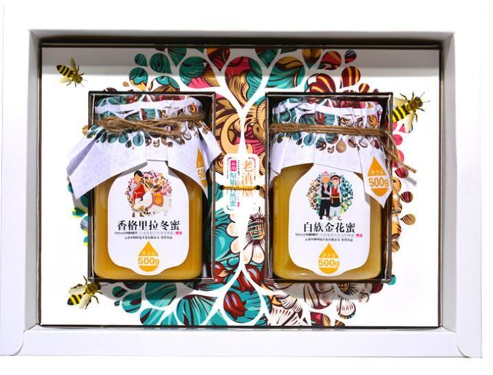年货礼盒装蜂蜜1000g 云南中蜂天然土蜂蜜代理批发一件代发
