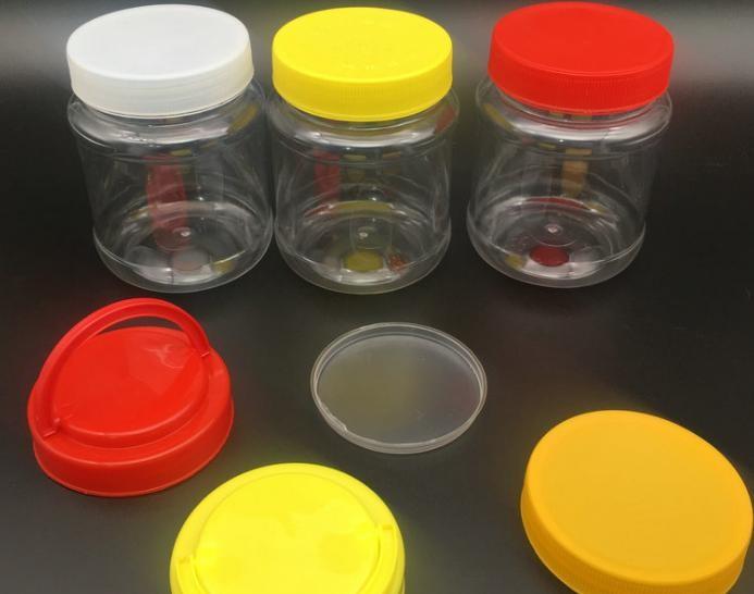 pet全新料圆形塑料瓶 500克圆形蜂蜜罐500g塑料瓶加厚型48个一件