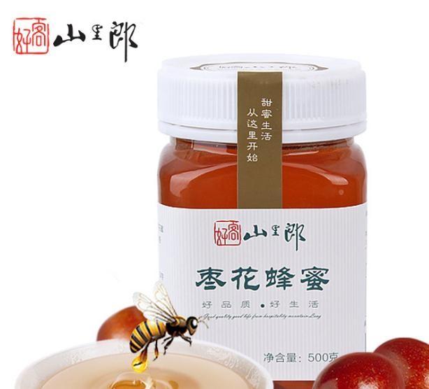 蜂蜜 正宗農家純正棗花蜜500g 新鮮液態野生蜂蜜一件代發
