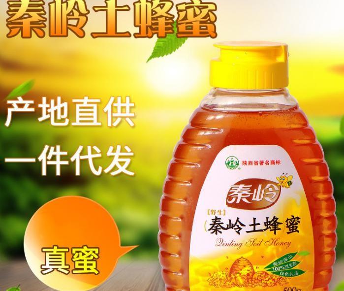 秦岭深山农家土蜂蜜 500g天然成熟土蜂蜜厂家批发 特产土蜂蜜