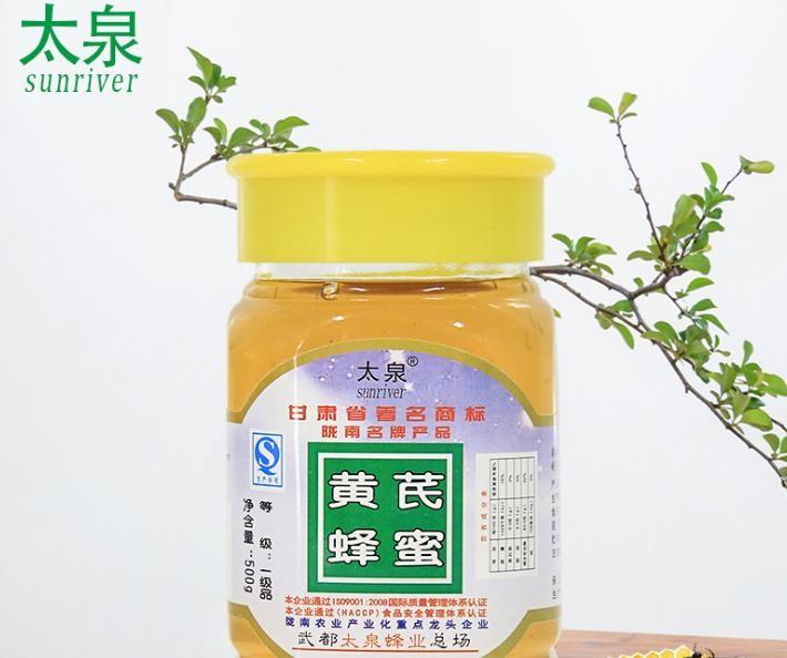 黄芪蜂蜜500g每瓶 太泉甘肃特产 农家土蜂蜜批发 高山野生蜂蜜