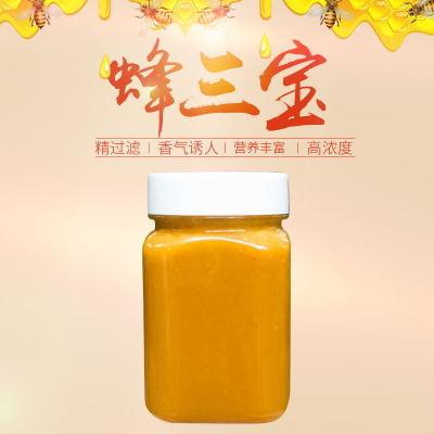 农家自产优蜜谷野生蜂三宝 蜂王浆 花粉 蜂蜜 500g瓶装口感清甜