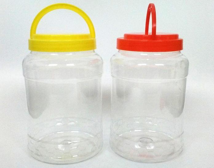 透明PET通用塑料包装瓶 8斤手提蜂蜜瓶糖果坚果包装瓶