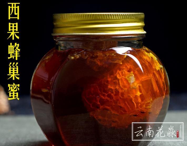 花淼工廠 蜜源地印度·西西果花蜂蜜 天然蜂蜜帶原蜂巢 450克/瓶