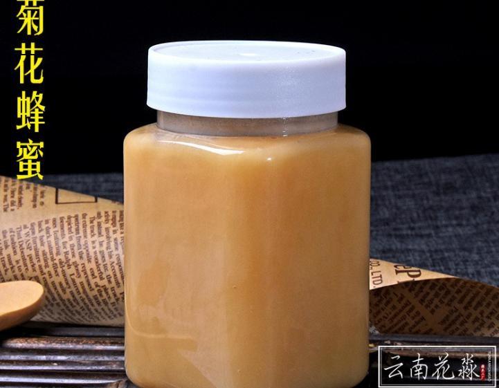 花淼工厂 野菊花蜂蜜 云南特产 菊花蜂蜜 原蜜500克/瓶 批发贴牌