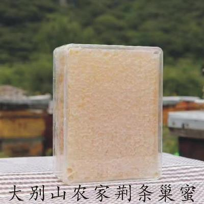 純天然深山農家自產野生蜜蜂荊條巢蜜土蜂蜜美容養顏潤膚農家直銷