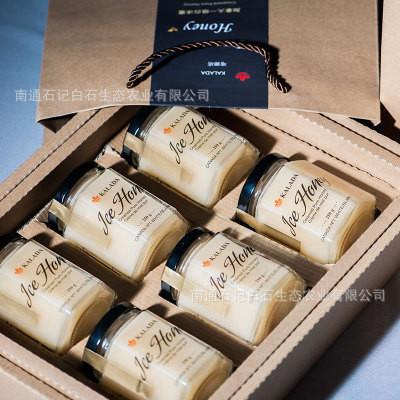 一件代发加拿大进口KALADA天然冰蜂蜜白蜜250克6瓶礼盒装现货包邮