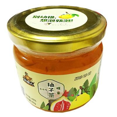 蜂蜜柚子茶 360g 可贴牌可代发 采蜂人柚子酱果酱饮料冲调果汁