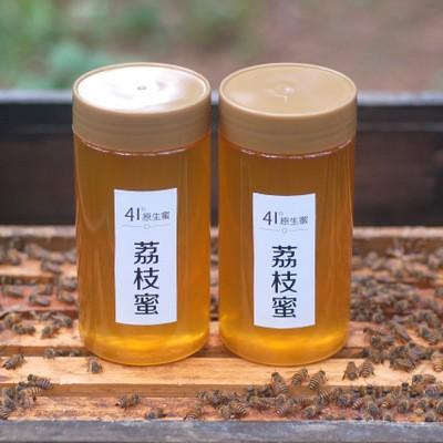 广西农家特产自养野生原蜜蜂场直销批发代发500g冬天结晶荔枝蜂蜜