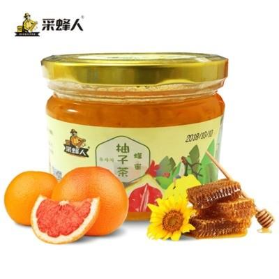 蜂蜜柚子茶360g 采蜂人 果肉飲料果醬零食沖調果汁一件代發可貼牌