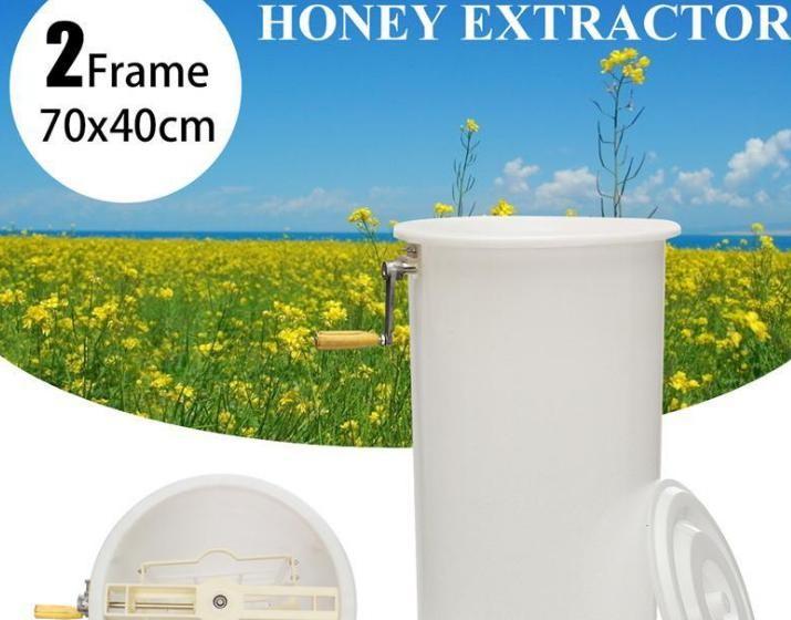亚马逊热销蜂具无毒型塑料两框摇蜜机塑料打糖机分离机蜂蜜收集器