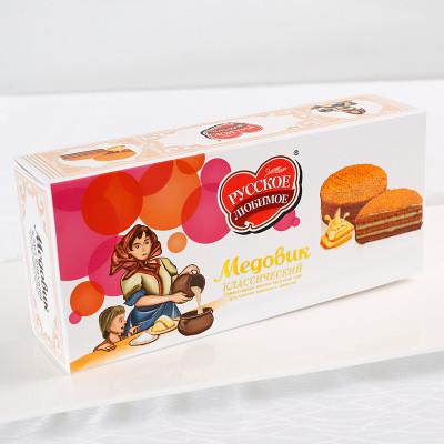 俄之戀巧克力提拉米蘇手工蜂蜜俄式蛋糕夾盒裝240g