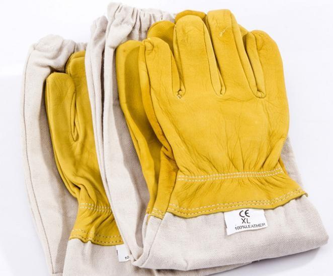 羊皮手套 出口手套 真正羊皮防護手套 防蜜蜂蜇手套