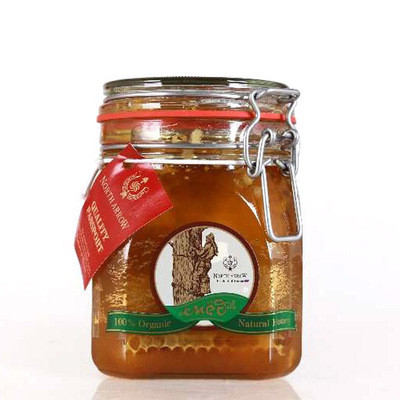 進口俄羅斯蜂蜜 百花蜜新品蜂蜜1.1kg/瓶 俄羅斯天然蜂蜜批發
