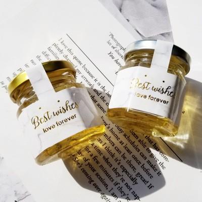 花蕊廠家直供50g喜蜜燙金成品瓶裝訂制貼牌婚慶創意婚禮用品