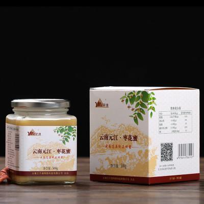 源头好货云南迪庆高原纯正蜂蜜香格里拉枣花蜜500g装 野生蜂蜜