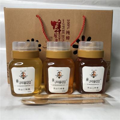 蜂蜜礼盒 年货礼品 山花成熟蜂蜜 蜂场直供批发 五盒赠一盒