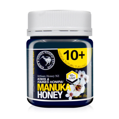 kiwis基維氏新西蘭結晶蜂蜜原裝進口麥盧卡UMF10+蜂蜜250g瓶裝