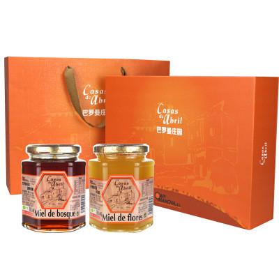 进口蜂蜜 西班牙森林蜂蜜400g瓶装巴罗曼庄园森林蜜