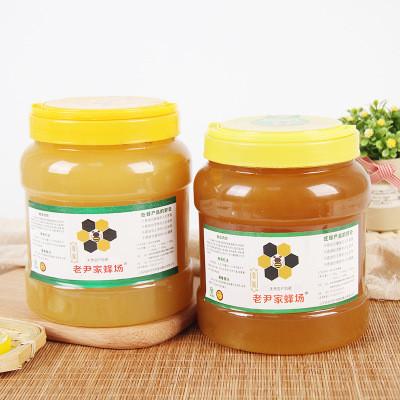 鲁巢老尹家蜂场天然山花蜂蜜5斤 蜂场直供批发 野生百花蜂蜜