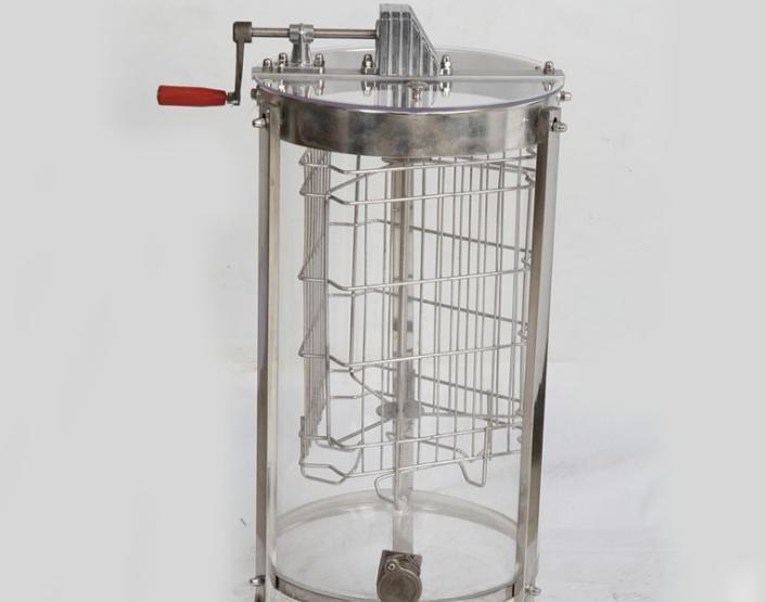 全透明搖蜜機 亞克力出口三框塑料搖蜜機3框不銹鋼流蜜口打蜜機
