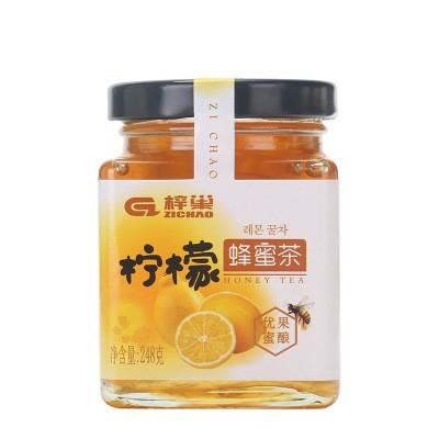 土蜂蜜飲品蜂蜜檸檬茶 野生蜂蜜檸檬茶飲料248g 一件代發蜂蜜飲品