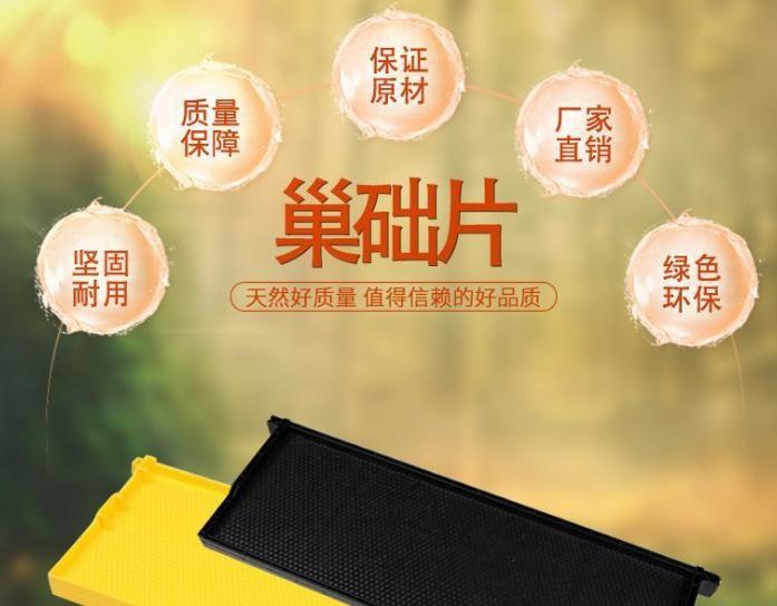 蜂具蜜蜂养蜂用工具意蜂巢础厂家批发蜂巢30片/盒包邮