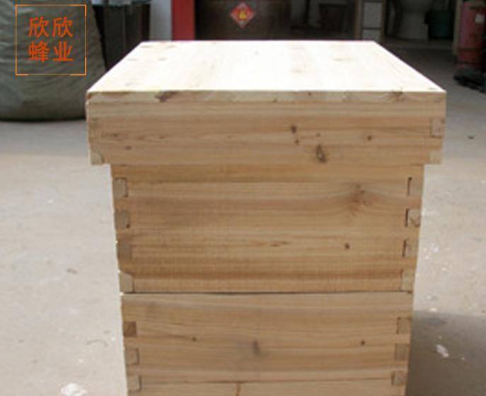 厂家直销 蜂箱平箱中蜂箱蜡杉木蜂箱 标准十框煮