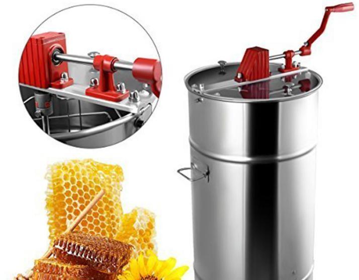 供应2框出口型摇蜜机摇蜜机304全不锈钢加厚养蜂工具取蜜蜂分离机