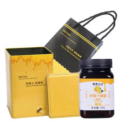 檸檬花蜂蜜 河南特產檸檬花蜜 原蜜500克/瓶 批發貼牌代發