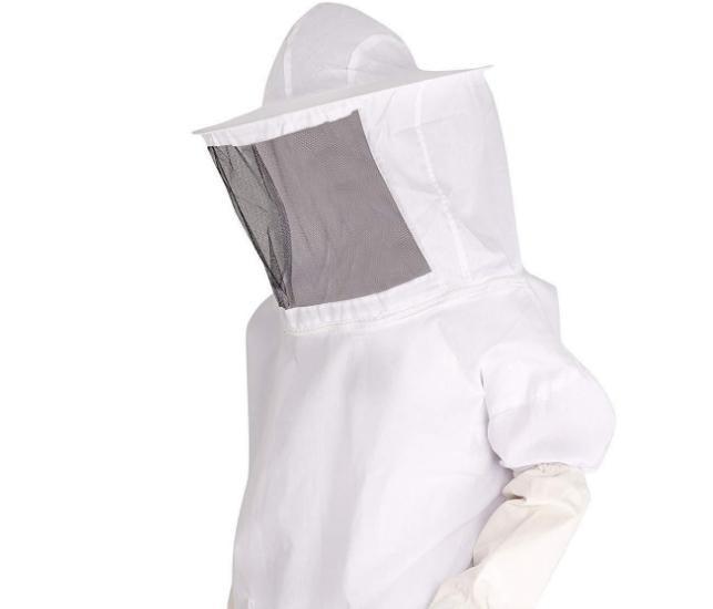 蜂具出口型亚马逊热销养蜂工具新养蜂者白色分体蜂衣养蜂手套