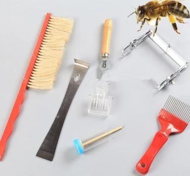 养蜂工具/用具 养蜂7件套起刮刀蜂扫针式刀提脾夹王笼埋线器 蜂箱