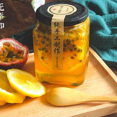 百香果蜂蜜檸檬罐裝500g批發