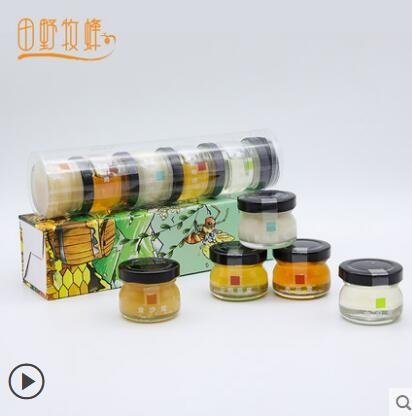 田野牧蜂小罐蜂蜜礼盒 节日送礼现货苏先生蜂蜜便携30g*5小瓶