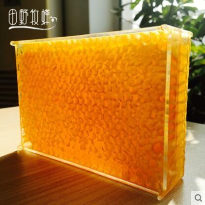 田野牧蜂 嚼着吃蜂巢蜜百花蜜农家自产土蜂蜜420g*3盒