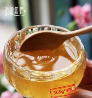 田野牧蜂云南香蜜 花香浓郁苏先生的蜜 高活性成熟蜂蜜365g*4瓶