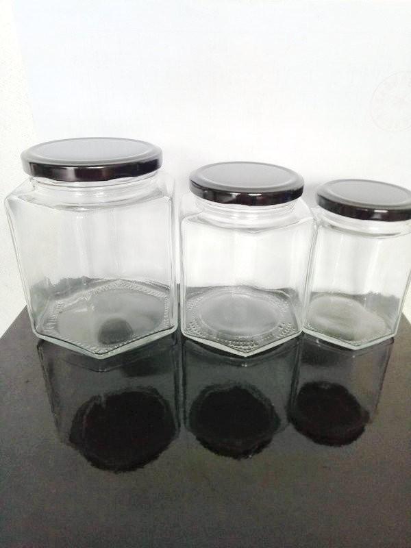 玻璃蜂蜜瓶六角四方形瓶